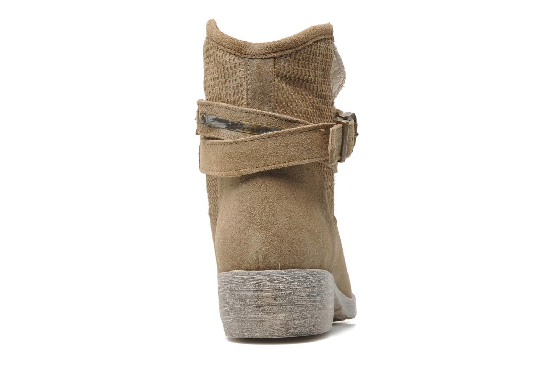 Boots en enkellaarsjes Méliné Jute Beige rechts