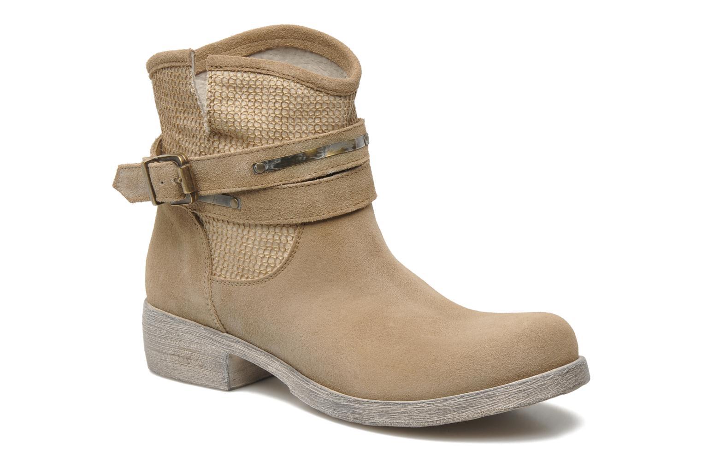 Bottines et boots Méliné Jute Beige vue détail/paire