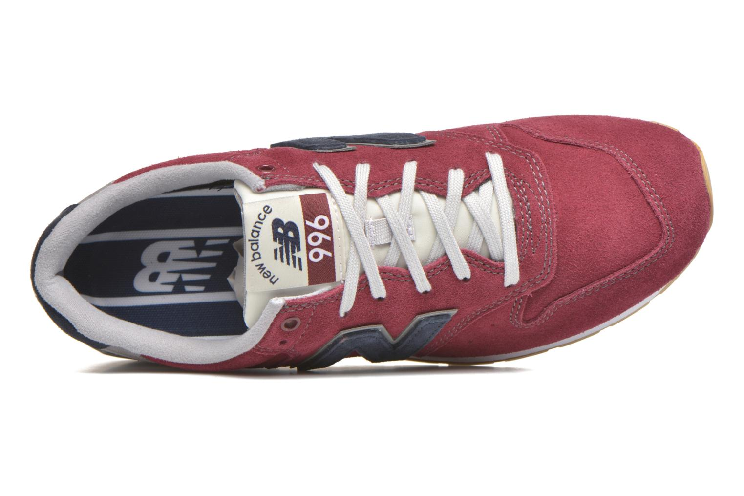 Trainers New Balance MRL996 Burgundy view from the left