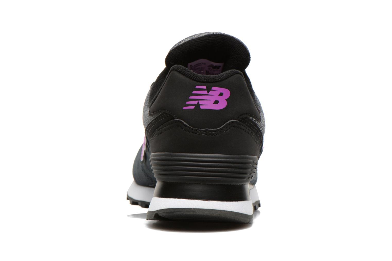 Baskets New Balance WL574 Gris vue droite