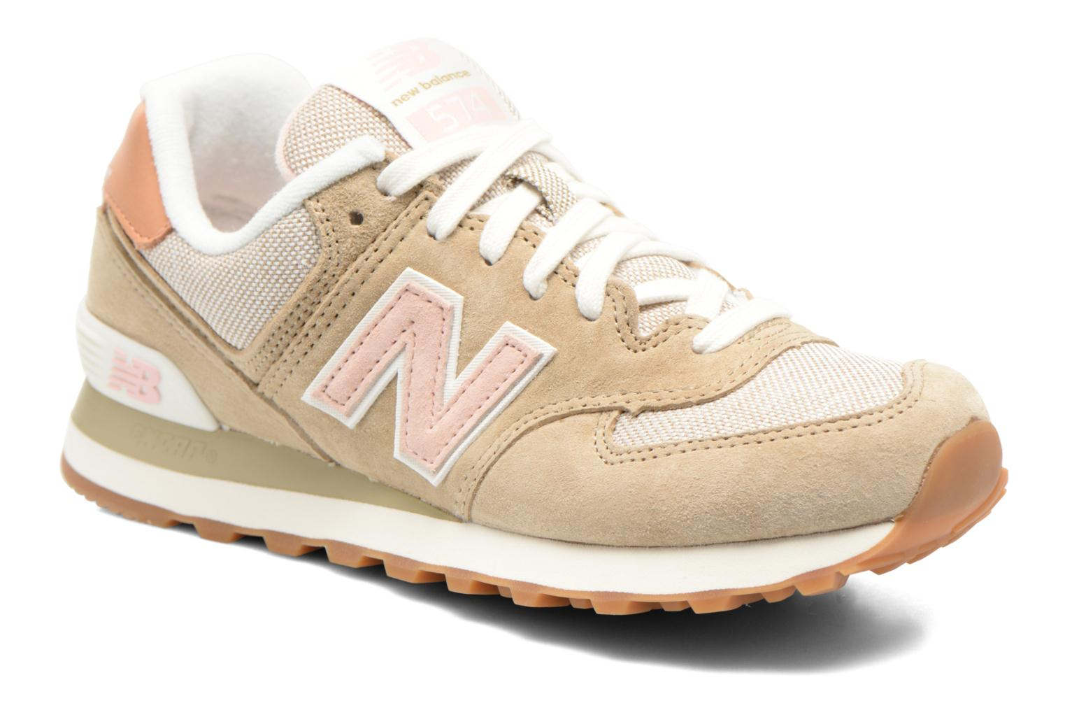 new balance wl574 beige yellow