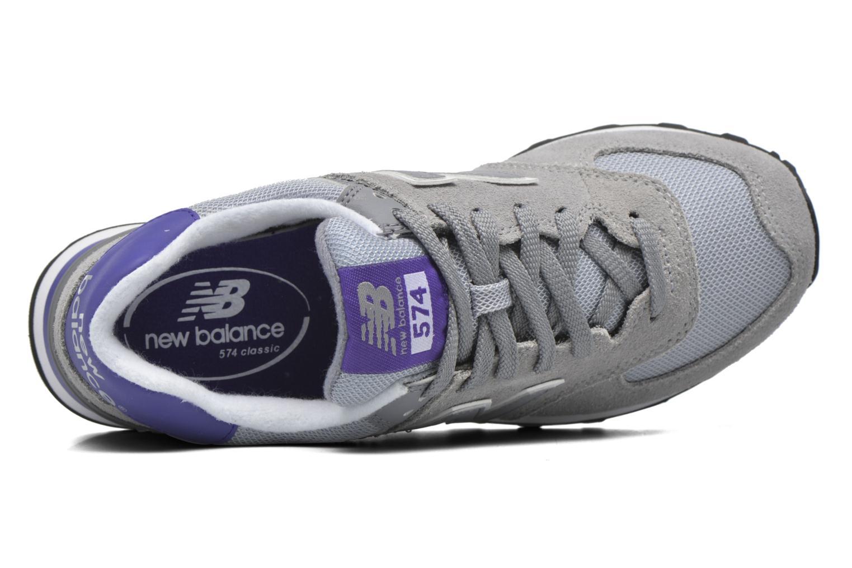 Sneaker New Balance WL574 grau ansicht von links