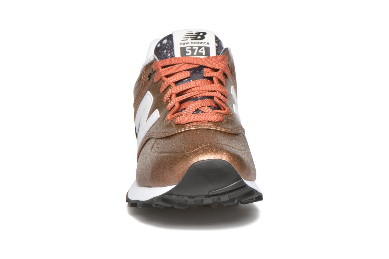 Sneaker New Balance WL574 rot schuhe getragen