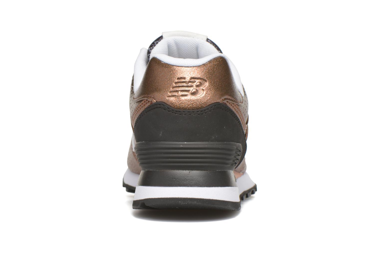 Sneaker New Balance WL574 rot ansicht von rechts