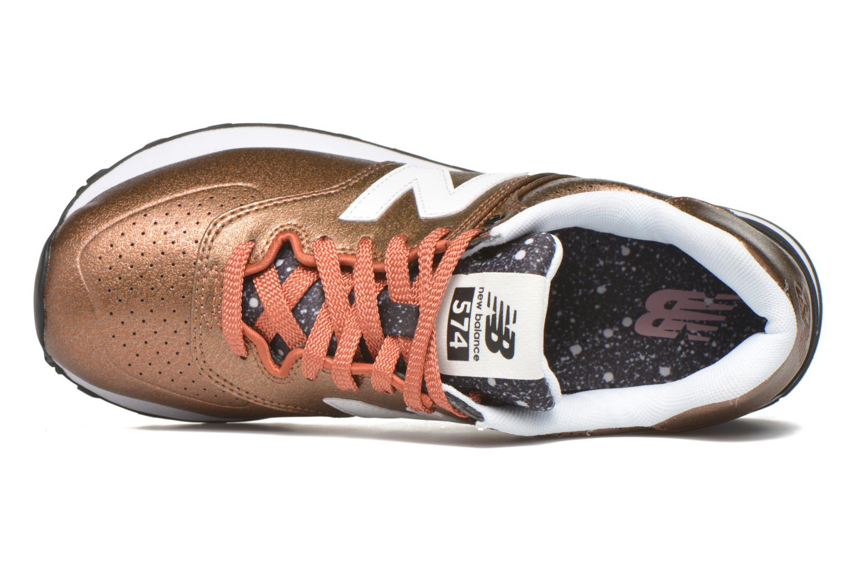 Sneaker New Balance WL574 rot ansicht von links