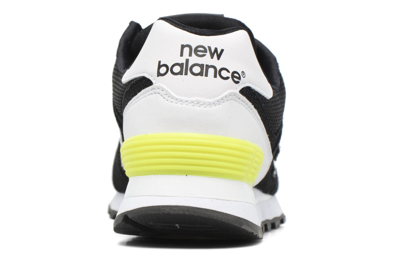 Trainers New Balance WL574 Black view from the right