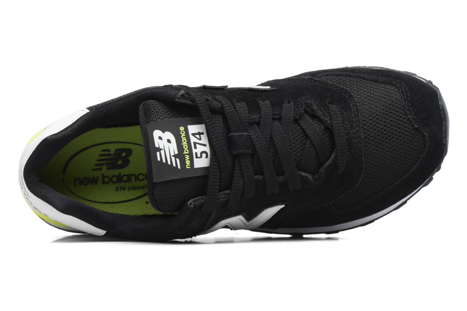 Trainers New Balance WL574 Black view from the left