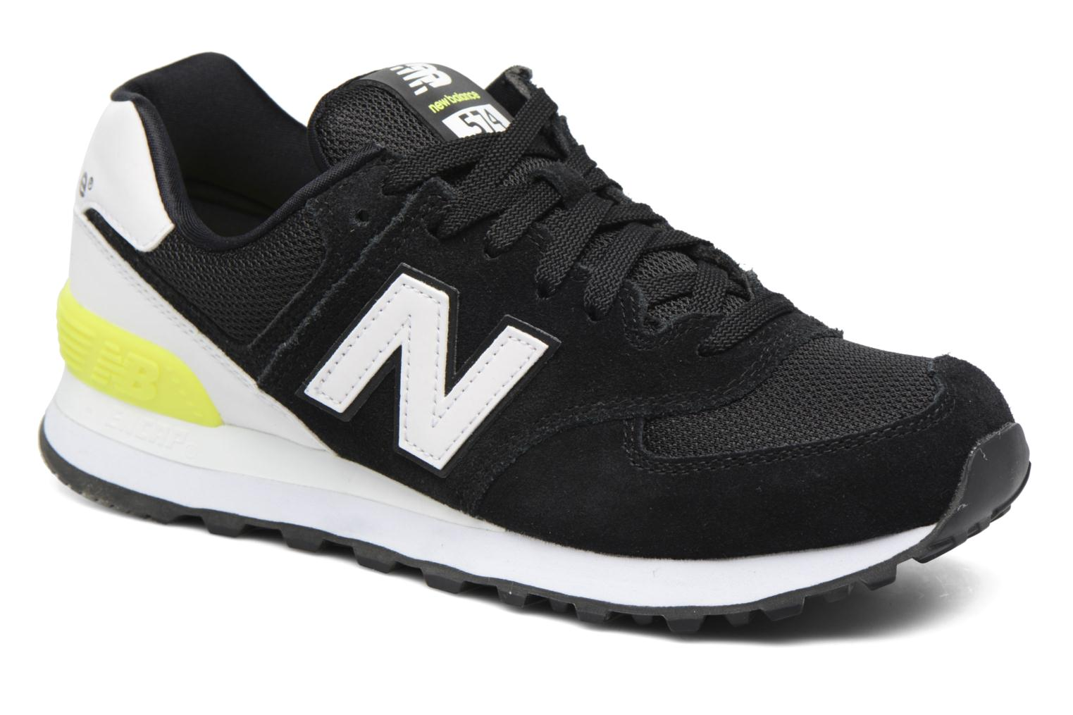 Trainers New Balance WL574 Black detailed view/ Pair view