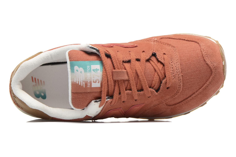 Baskets New Balance WL574 Orange vue gauche
