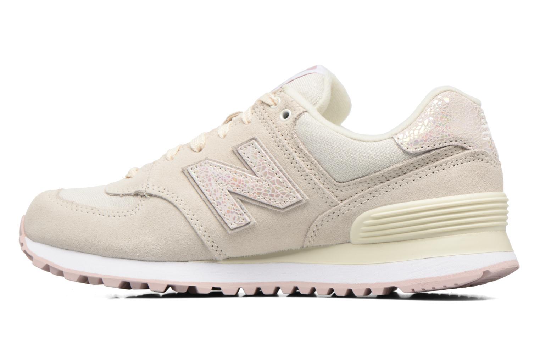 Sneakers New Balance WL574 Wit voorkant