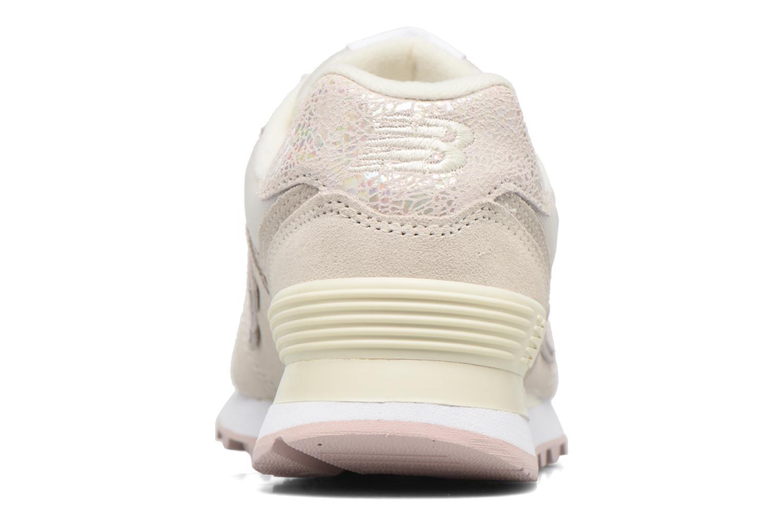 Sneaker New Balance WL574 weiß ansicht von rechts