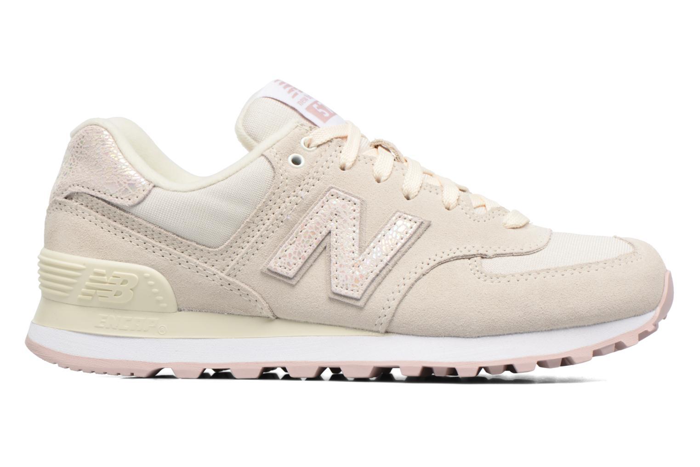 Sneaker New Balance WL574 weiß ansicht von hinten