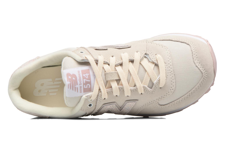 Sneaker New Balance WL574 weiß ansicht von links