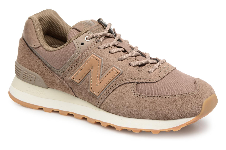 Zapatos cómodos y versátiles New Balance WL574 (Marrón) - Deportivas en Más cómodo