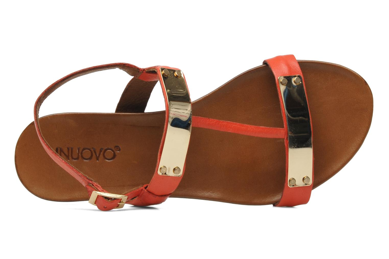Sandales et nu-pieds Inuovo Sakine Rouge vue gauche