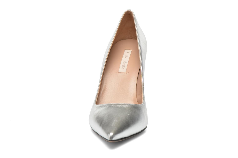 Escarpins Pura Lopez Astoria Argent vue portées chaussures
