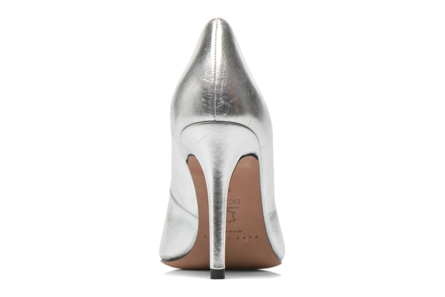 High heels Pura Lopez Astoria Silver view from the right