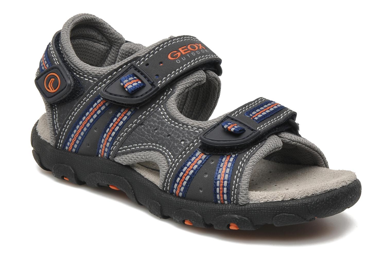 Sandales et nu-pieds Geox J S.STRADA A Gris vue détail/paire