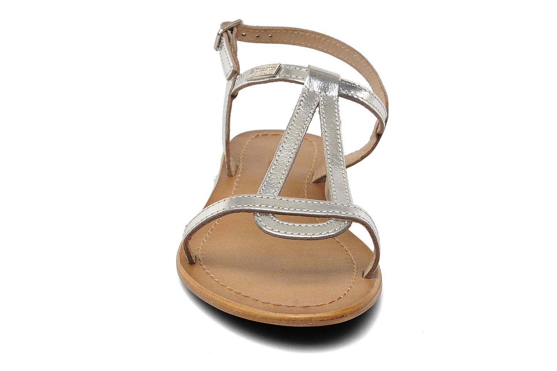 Sandales et nu-pieds Les Tropéziennes par M Belarbi Hamess Argent vue portées chaussures
