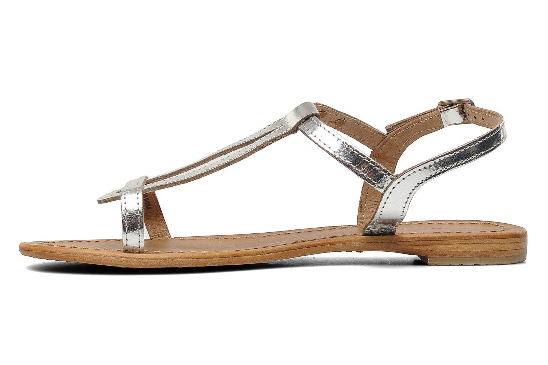 Sandales et nu-pieds Les Tropéziennes par M Belarbi Hamess Argent vue face