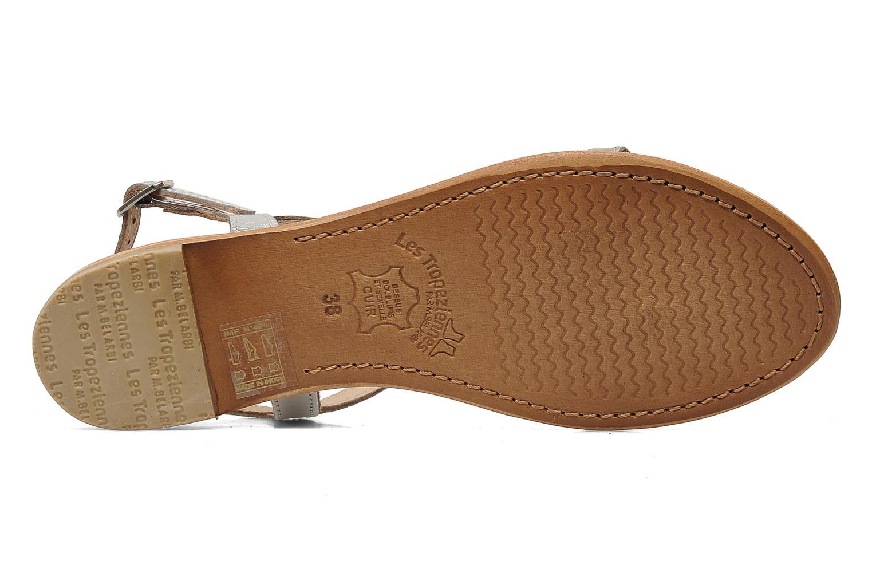 Sandales et nu-pieds Les Tropéziennes par M Belarbi Hamess Argent vue haut