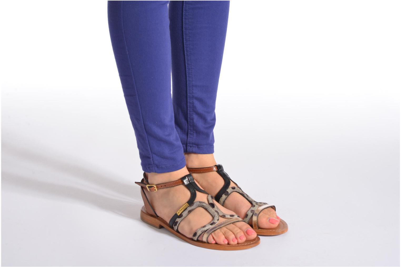 Sandales et nu-pieds Les Tropéziennes par M Belarbi Hayate Or et bronze vue bas / vue portée sac