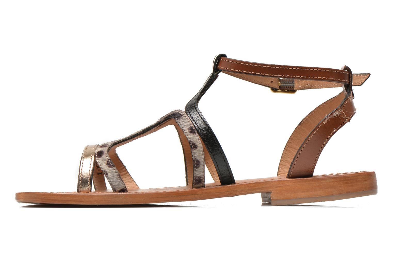 Sandales et nu-pieds Les Tropéziennes par M Belarbi Hayate Or et bronze vue face