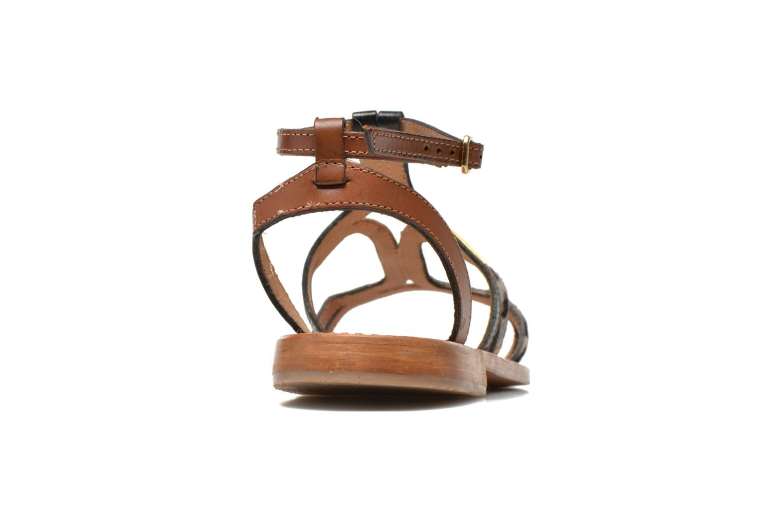 Sandals Les Tropéziennes par M Belarbi Hayate Bronze and Gold view from the right