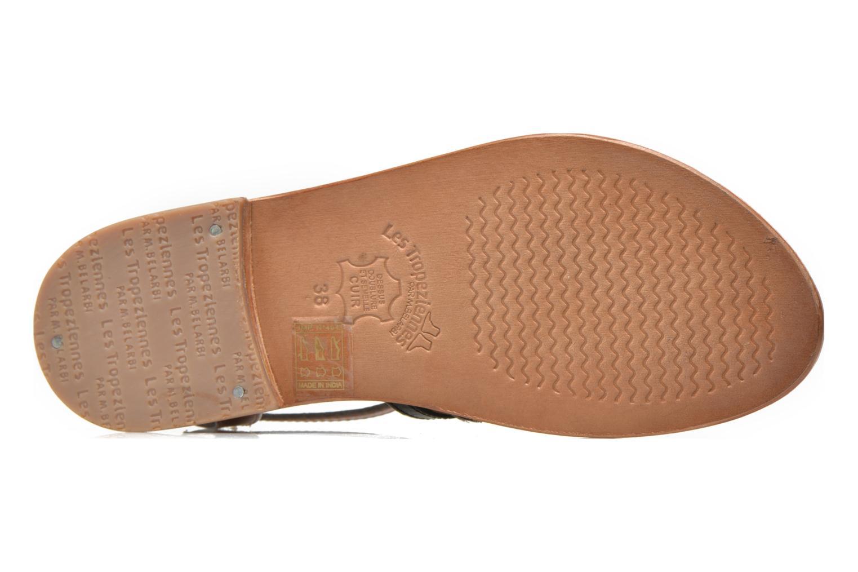 Sandales et nu-pieds Les Tropéziennes par M Belarbi Hayate Or et bronze vue haut