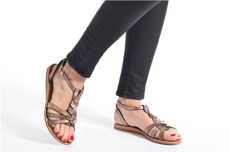 Sandals Les Tropéziennes par M Belarbi Hams Bronze and Gold view from underneath / model view