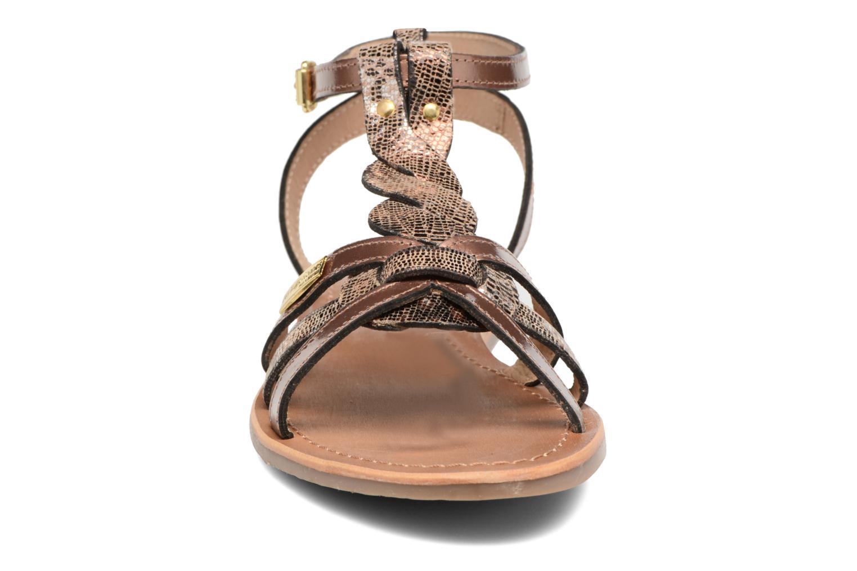 Sandales et nu-pieds Les Tropéziennes par M Belarbi Hams Or et bronze vue portées chaussures