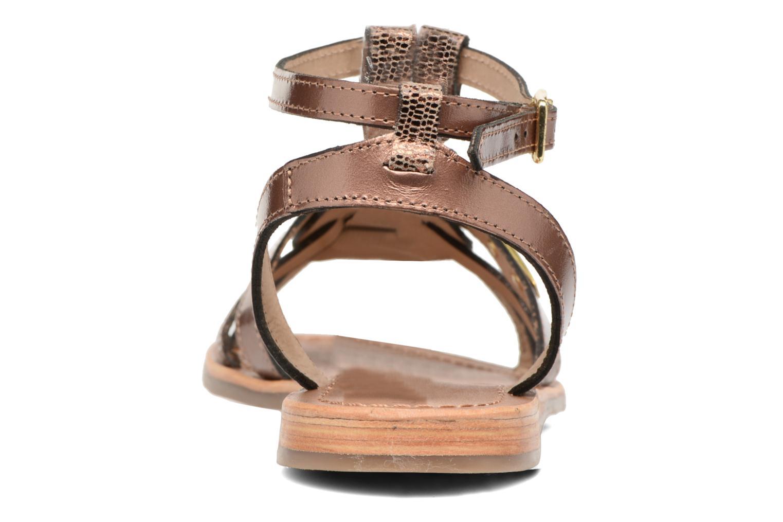 Sandals Les Tropéziennes par M Belarbi Hams Bronze and Gold view from the right
