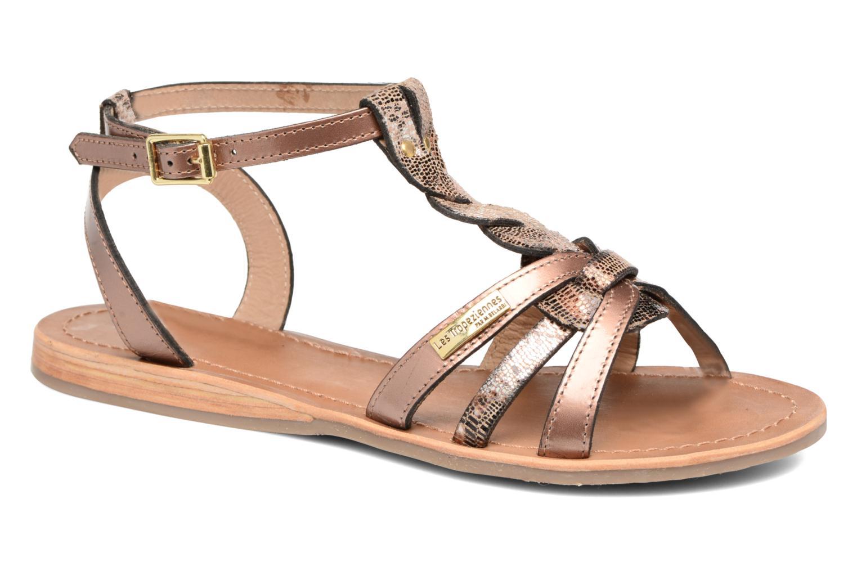 Sandals Les Tropéziennes par M Belarbi Hams Bronze and Gold detailed view/ Pair view