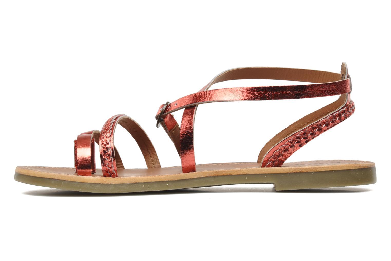 Sandalen Kickers Djapan rot ansicht von vorne