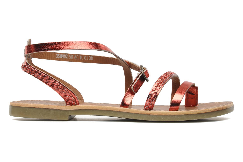 Sandalen Kickers Djapan rot ansicht von hinten
