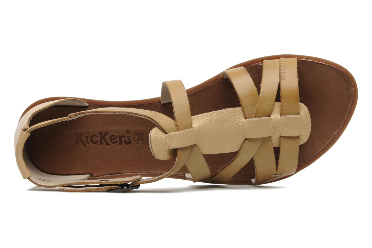 Sandalen Kickers Zen Geel links