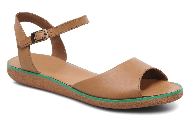 Sandales et nu-pieds Kickers Hypsy Marron vue détail/paire
