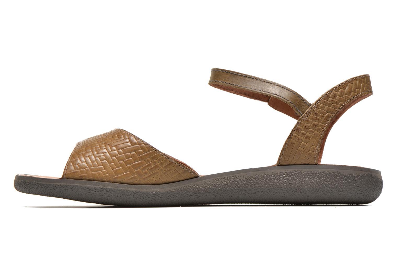 Sandalen Kickers Hypsy grün ansicht von vorne