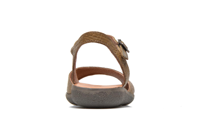 Sandalen Kickers Hypsy grün ansicht von rechts