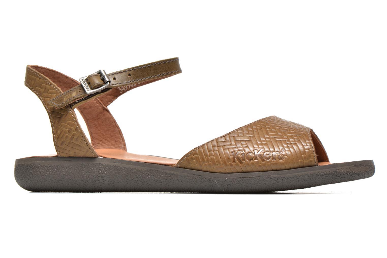 Sandalen Kickers Hypsy grün ansicht von hinten