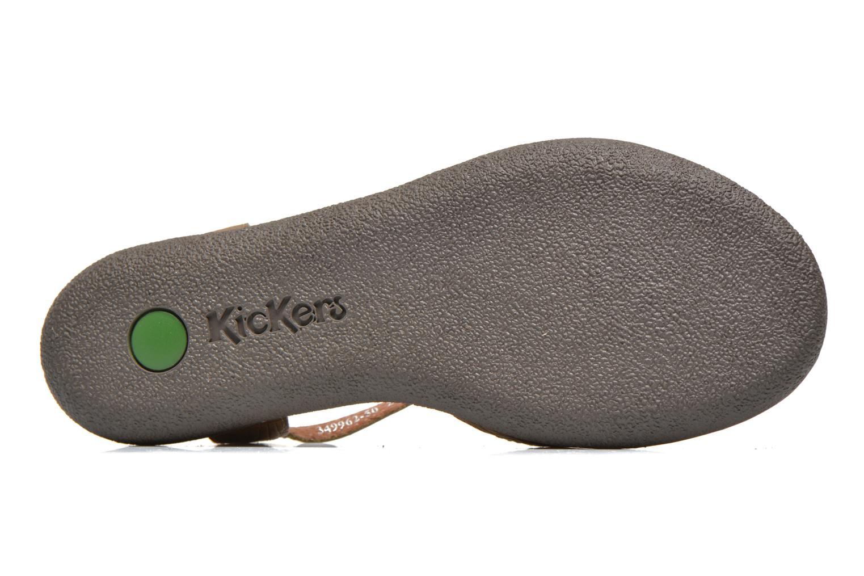 Sandalen Kickers Hypsy grün ansicht von oben