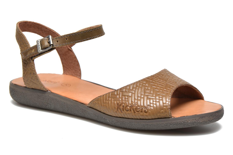 Sandales et nu-pieds Kickers Hypsy Vert vue détail/paire