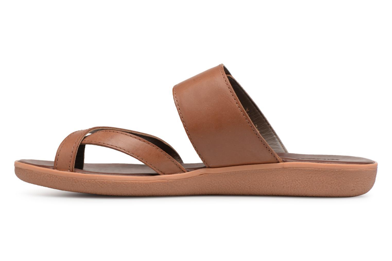Sandalen Kickers Hypy braun ansicht von vorne