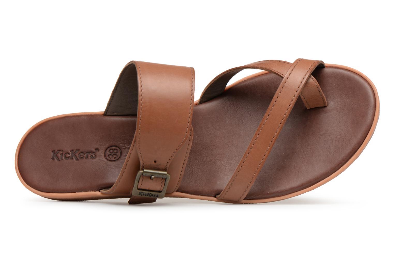 Sandalen Kickers Hypy braun ansicht von links