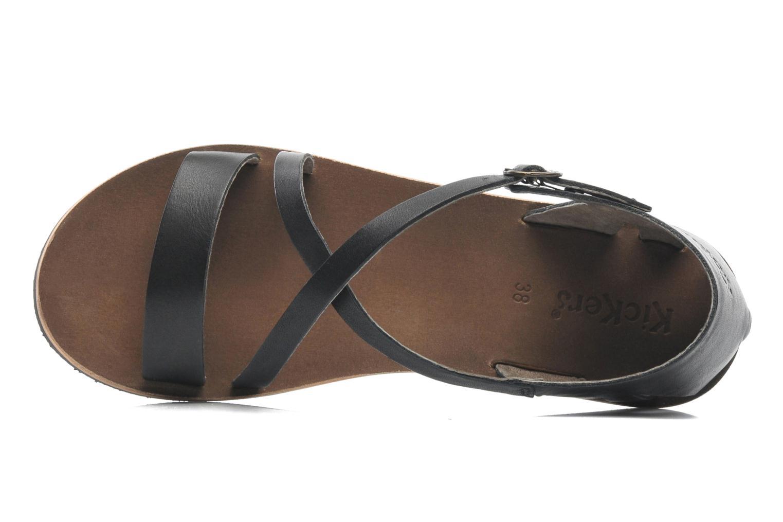 Sandales et nu-pieds Kickers Spartame Noir vue gauche