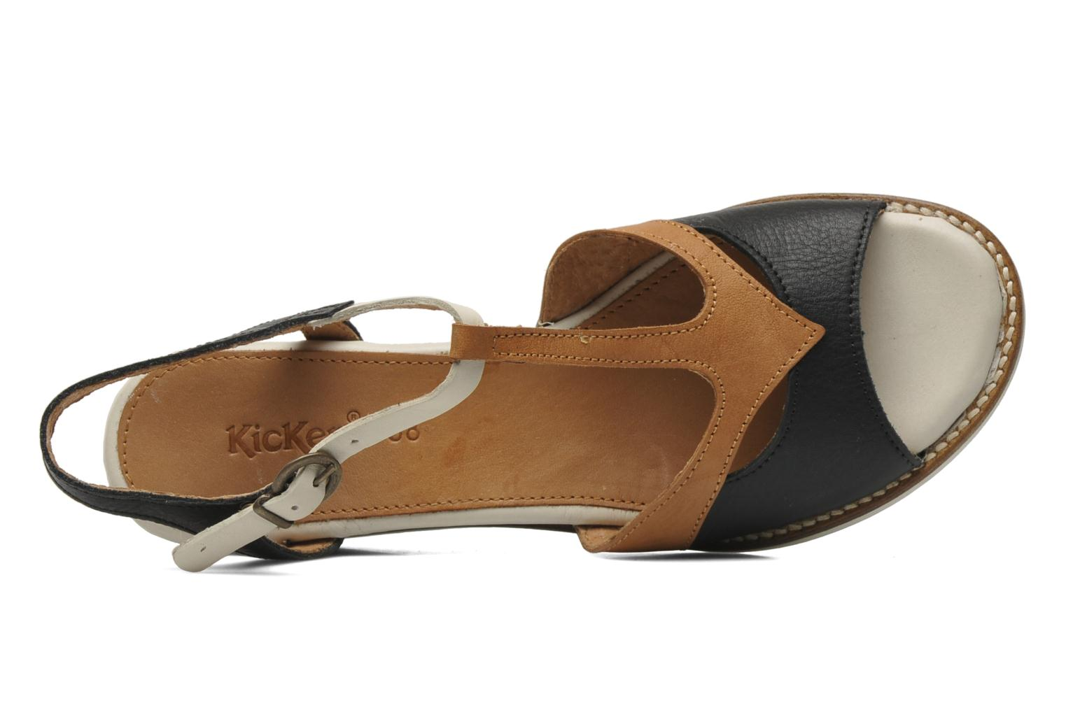 Sandalen Kickers Seshuan Zwart links