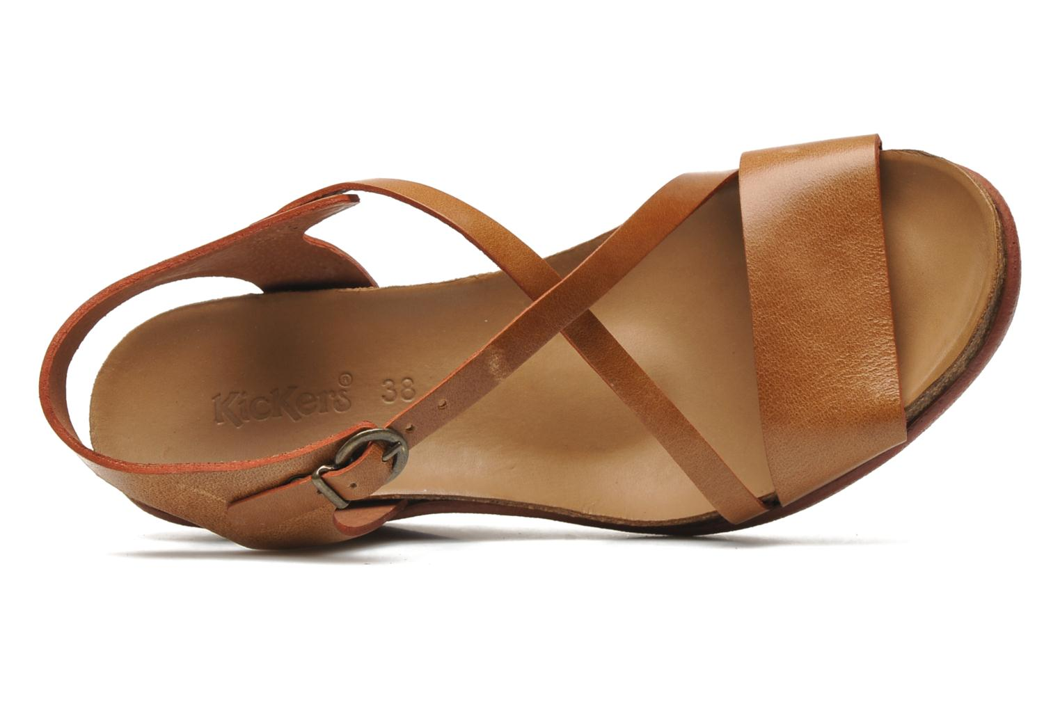 Sandalen Kickers Everlove Bruin links