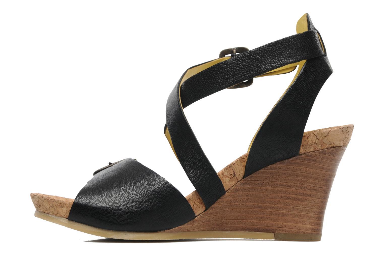 Sandalen Kickers Hava schwarz ansicht von vorne