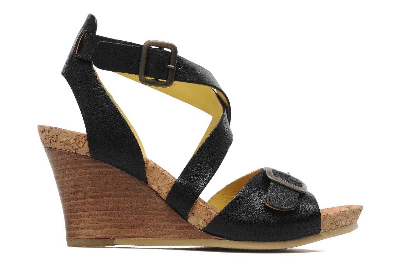 Sandalen Kickers Hava schwarz ansicht von hinten