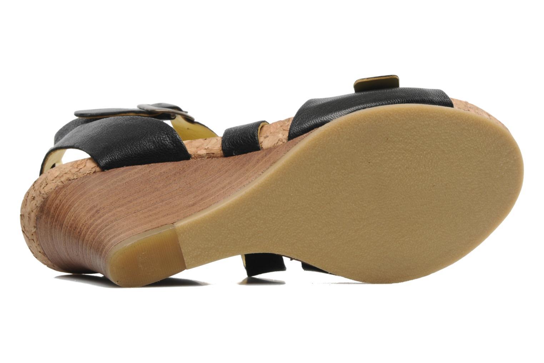 Sandalen Kickers Hava schwarz ansicht von oben